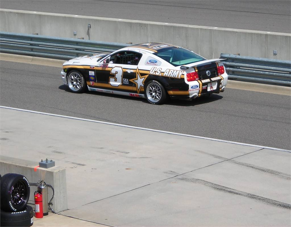 MUSTANG HAULING THE MAIL ON PIT ROAD BARBER MOTORSPORTS PARK
