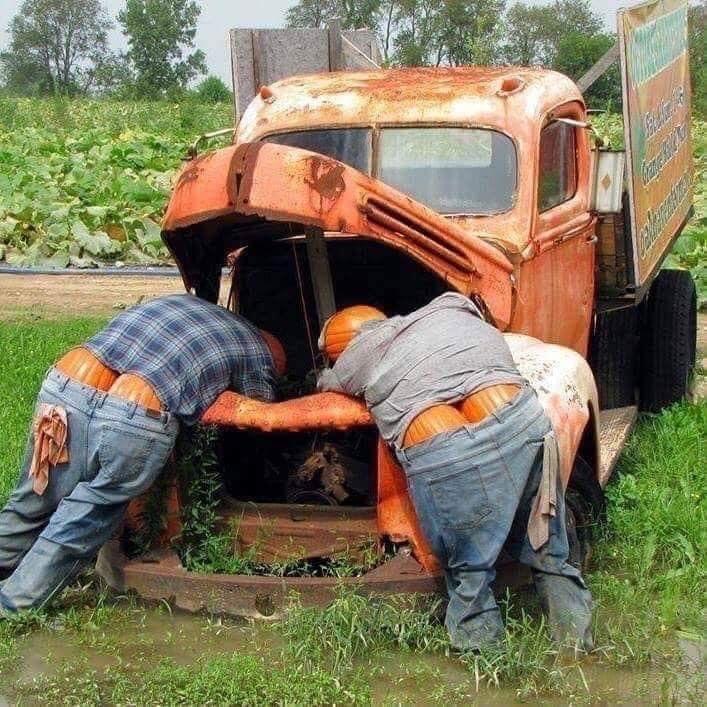 Halloween Men Working On Truck 10.9.19