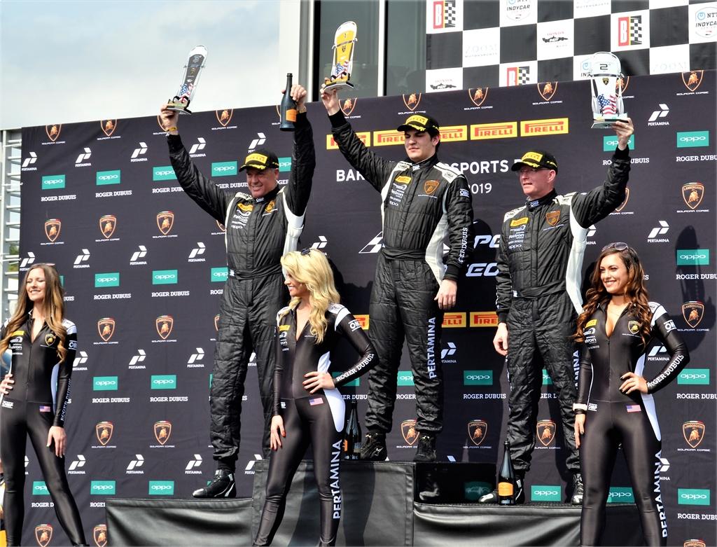 Winners Porsche GT3 Podium Barber Motorsports Park Birmingham Alabama