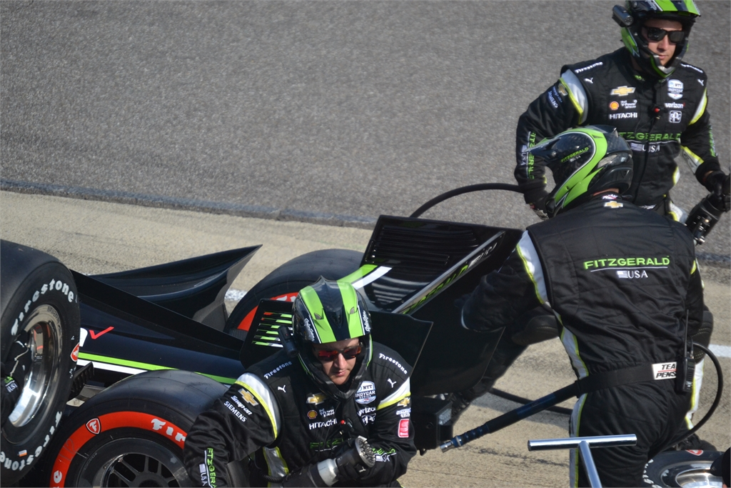 Indy Car Pit Stop Controlled Frenzy