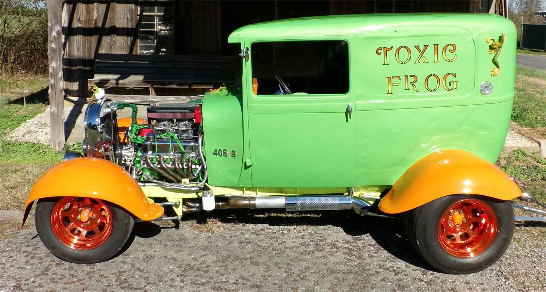 1929 TOXIC FROG Custom, Fast, Rat Rod. Wheelie Bars aren't for Show! 0-100 MPH in 7 Sec!